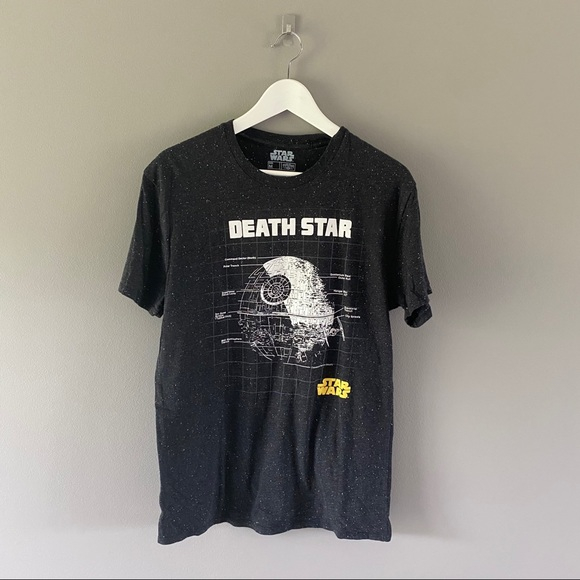 Star Wars Death Star Tee Black Medium